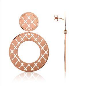 Rebecca Italy Rose Gold Melrose Earrings